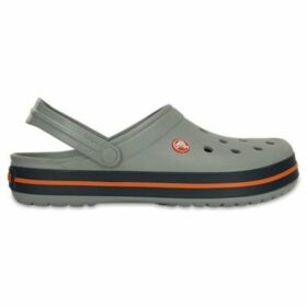 Crocs  Crocband Clogs Shoes Sandals in Light Grey   Navy Blue 11016 01  women's Clogs (Shoes) in Grey