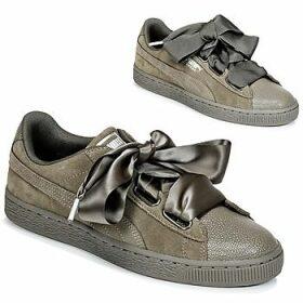Puma  SUEDE HEART BUBBLE W'S  women's Shoes (Trainers) in Kaki