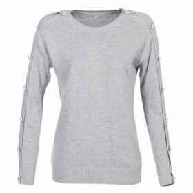 MICHAEL Michael Kors  GEM BUTTON SWTR  women's Sweater in Grey