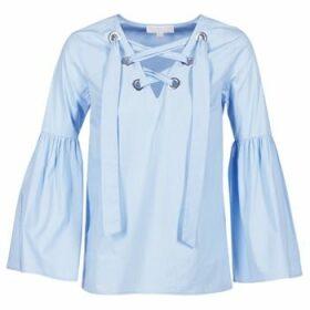 MICHAEL Michael Kors  POPLIN GRMT LCE UP T.  women's Blouse in Blue
