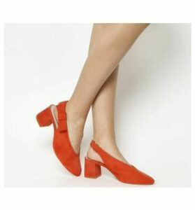 Office Magical Bow Slingback RED SUEDE