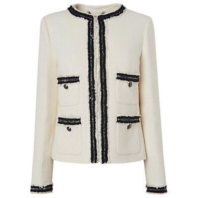L.K.Bennett Charl Tailored Jacket, Cream