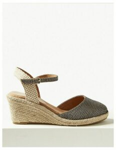 M&S Collection Wide Fit Wedge Heel Espadrilles