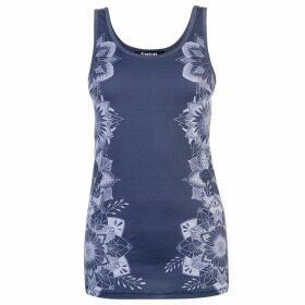 Firetrap Blackseal Vee Vest Top - Navy Floral