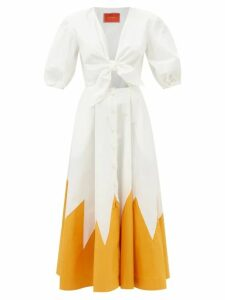 Teija - Floral-print One-shoulder Top - Womens - Navy Print