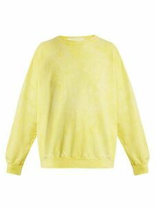 Audrey Louise Reynolds - Round Neck Cotton Sweatshirt - Womens - Yellow
