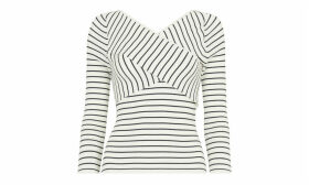 Wrap Front Stripe Knit