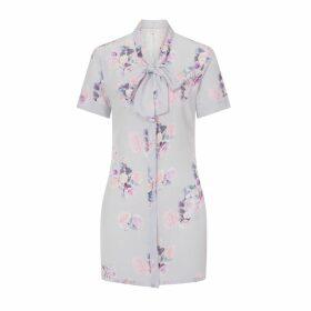Sophie Cameron Davies - Silk Bow Dress Rose Print