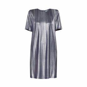 PAISIE - Silver Metallic Dress