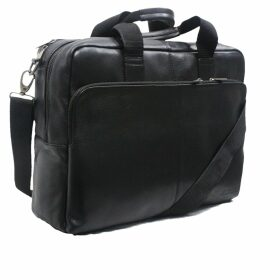 Vols & Original - Black Leather Bomber Jacket With Snake Print