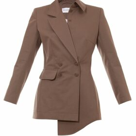 VHNY - Mid Length Jacket With Faux Fur Trim