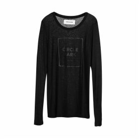 Circle Park - Women'S Fine Long Sleeve Black T