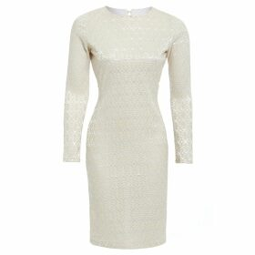 Asneh - Helen Sweater Candy Pink with Cornflower Blue Silk Tie
