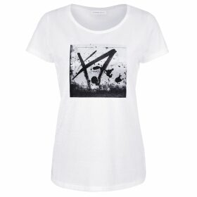 URBAN GILT - Buxton White Graffiti Print T-Shirt