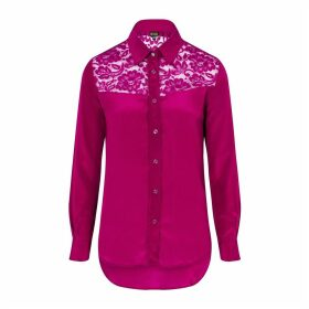 Sophie Cameron Davies - Berry Pink Classic Silk Shirt