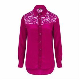 Sophie Cameron Davies - Berry Pink Classic Silk Shirt