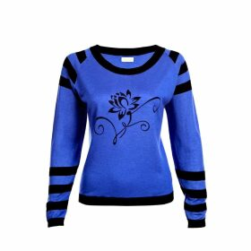 Asneh - Lotus Sweater Blue & Black