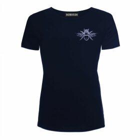 INGMARSON - Hornet Embroidered T-Shirt Navy Women