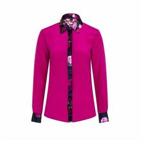 Sophie Cameron Davies - Berry Pink Rose Silk Shirt