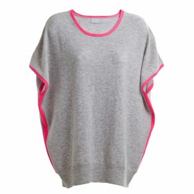 Cove - Eva Cashmere Jumper Grey & Pink