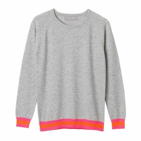 Cove - Philly Grey Cashmere Jumper with Neon Stripes