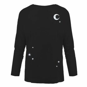 INGMARSON - Midnight Sky Embroidered Dropped Shoulder T-Shirt Women