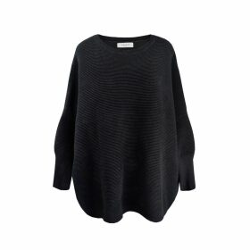 PAISIE - Paisie Ribbed Jumper in Black