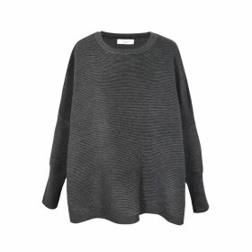 PAISIE - Oversized Ribbed Jumper In Charcoal