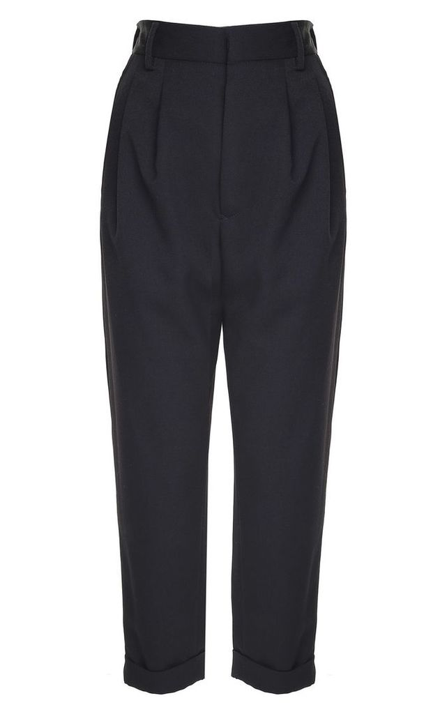 MM6 Maison Margiela Straight-leg Turned-up Twill Trousers