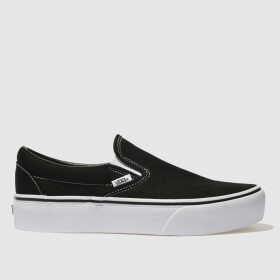 Vans Black Classic Slip-on Platform Trainers
