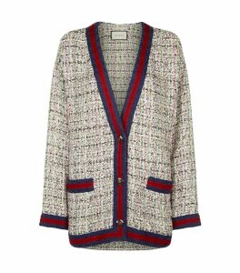 Embellished Tweed Cardigan