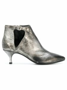 Strategia faded pointed ankle boots - Metallic
