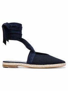 JW Anderson Blue Ankle Strap Suede espadrilles