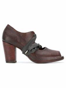 Sartori Gold tie front pumps - Brown