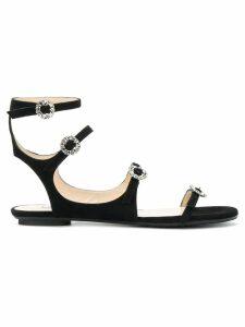 Jimmy Choo Naia flat sandals - Black