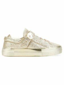 Nicholas Kirkwood Pearlogy low top sneakers - GOLD