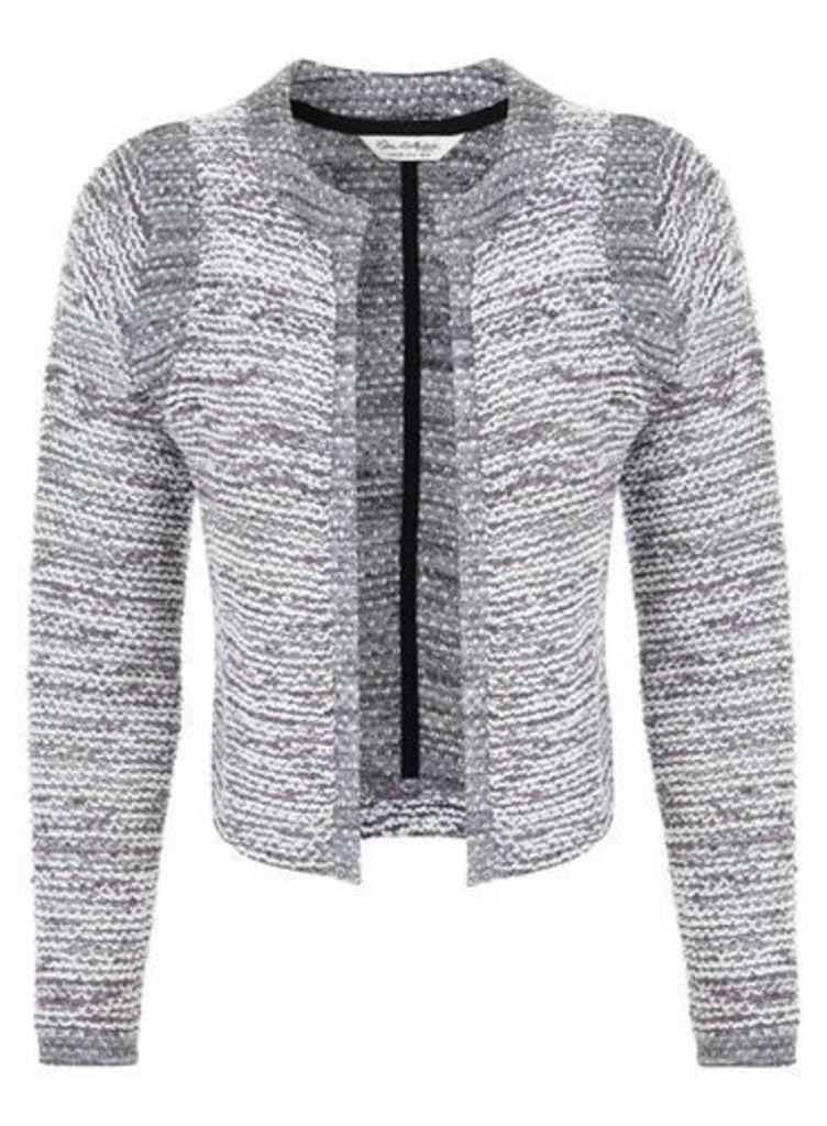 Womens Boucle Jacket, Purple