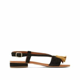 Wide Fit Flat Leather Sandals, Sizes 5-10