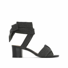 Wide-Fit Sandals with Ankle Tie, Sizes 38-45