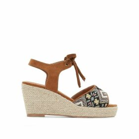 Rope wide wedge sandals