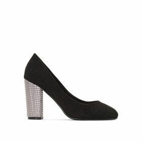 Wide Fit Fancy Block Heel Shoes