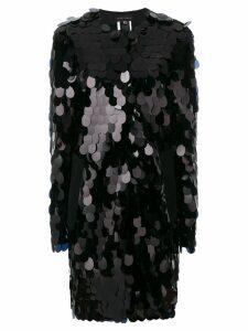 Talbot Runhof sequinned coat - Black