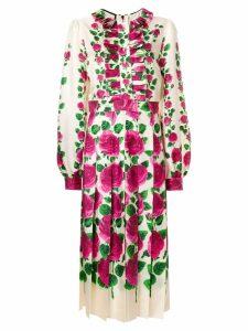 Gucci Rose Garden print dress - NEUTRALS