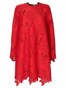 MSGM openwork lace dress - Red