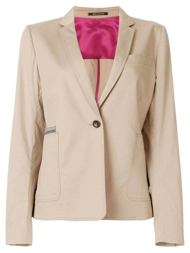 Ps By Paul Smith 'sabbia' contrasted jacket - Nude & Neutrals