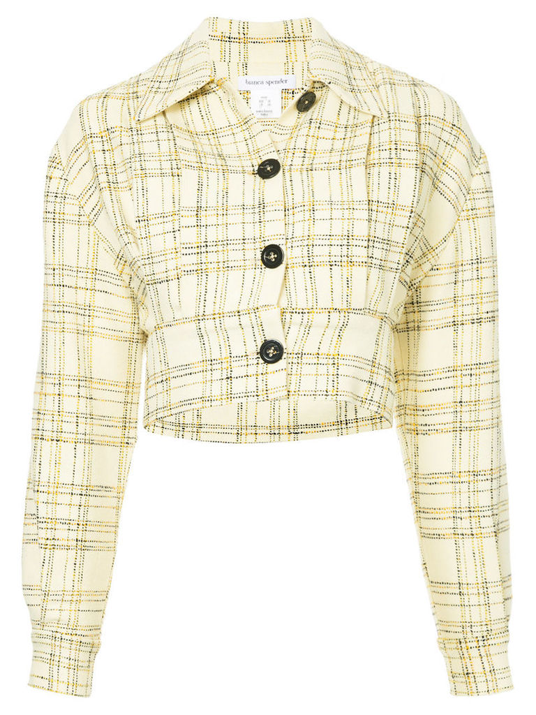 Bianca Spender checked Modernism jacket - Yellow & Orange