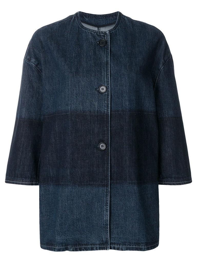 Marni single breasted denim jacket - Blue