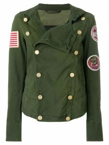 Mr & Mrs Italy patched double-breasted fitted jacket - Green