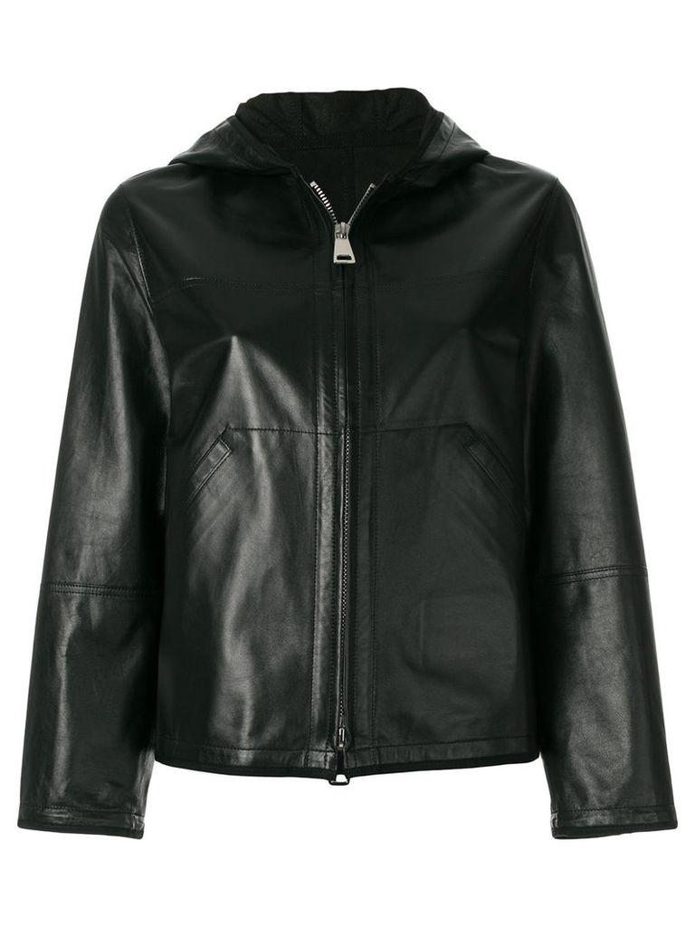 Sylvie Schimmel hooded zip up jacket - Black