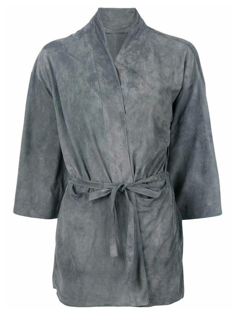 Salvatore Santoro belted fitted jacket - Grey